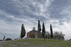 La chapelle Sainte Sixte à Eygalières (Bouches du Rhône).