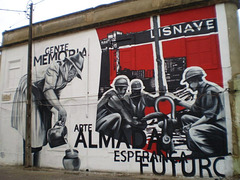 Mural about Almada memories.