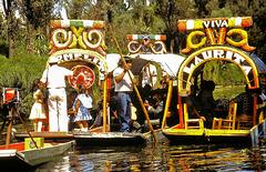 Xochimilco (Mexico) (MEX) juillet 1979. (Diapositive numérisée)