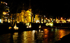 DE - Bad Neuenahr - River Ahr illuminated for Christmas
