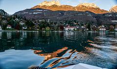 l'or se trouvait sur le lac d'Annecy