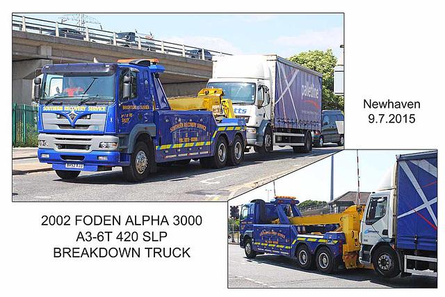2002 Foden Alpha 3000 Breakdown truck - Newhaven - 9.7.2015
