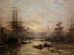 """""""Soleil couchant à Anvers"""" (Pierre-Eugène Gransire)"""