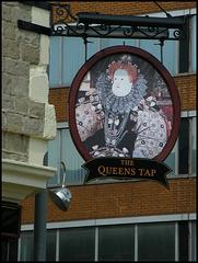 Queen's Tap pub sign