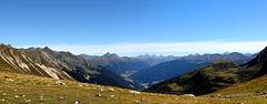 Panoramablick vom Missensteiner Joch