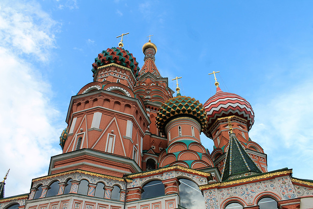 Les dômes de Basile-le-Bienheureux à Moscou