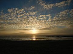 lever de soleil sur la mer,