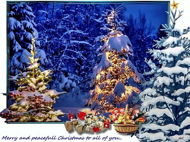 Frohe Weihnacht.  Merry Christmas. Joyeux Noël. Buon Natale. Feliz Navidad. ©UdoSm