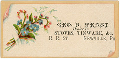 George B. Weast, Dealer in Stoves and Tinware, Newville, Pa.