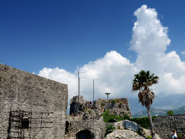 Herceg Novi- Cumulus over the Fortress