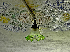 flowers on the ceiling...