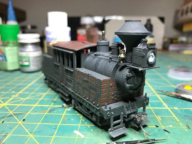 Class A Climax logging locomotive