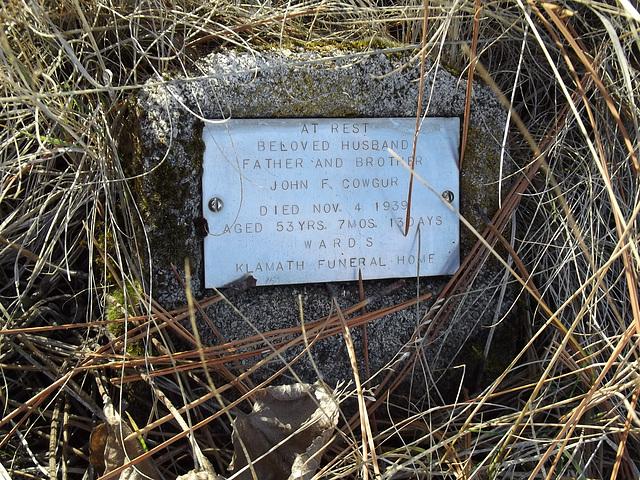 A modest grave