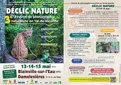 """Venez nous faire un petit coucou sur le festival """"Déclic Nature"""" les 13/14/15 mai 2016  et profitez pour découvrir la belle région lorraine"""