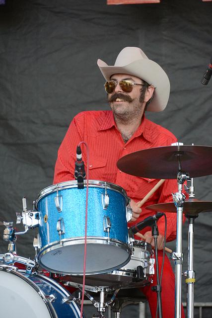 A happy drummer