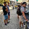 Lisbon 2018 – Tourists on Praça Martim Moniz