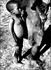 Bushman Boy with Grandma (Kalahari desert -Namibia)