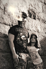 Désinvoltes père et fille