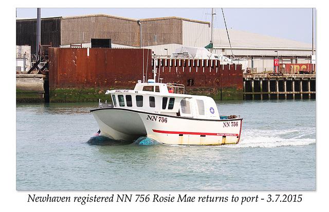 NN 756 returns to Newhaven - 3.7.2015