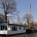 Wohnboot in den Grachten  von Amsterdam