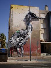 """""""Heron"""", by Bordalo II."""