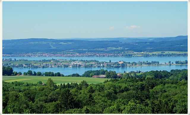 Die Reichenau mit Allensbach im Hintergrund