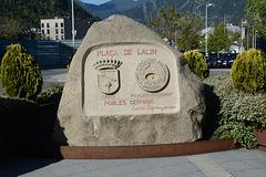 Andorra la Vella, Sign of Plaça de Lalin