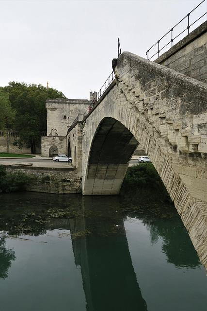 Le Pont Bénézet à Avignon, plus connu sous le nom de Pont d'Avignon, Vaucluse (France)