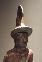 Detail of a Kneeling Warrior in the Metropolitan Museum of Art, July 2017