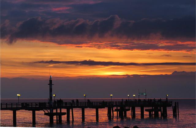 Sunset an der Seebrücke Wustrow