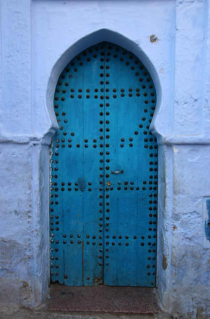 Large blue door