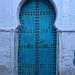 Large blue door
