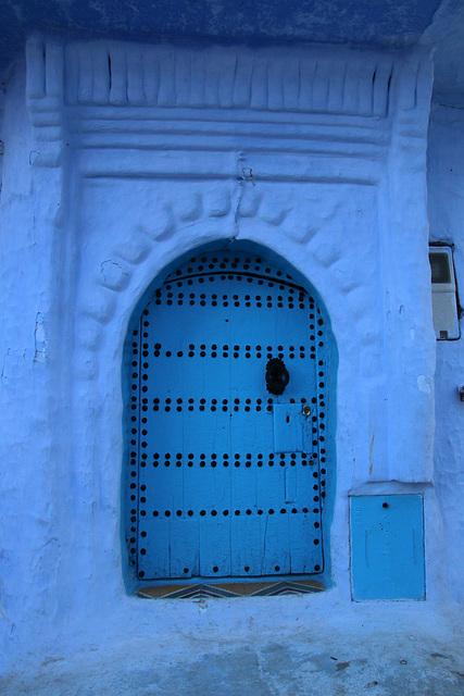 Small blue door