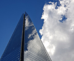 Shard merging with the sky