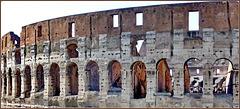 Roma : Uno scorcio del Colosseo ante restauro