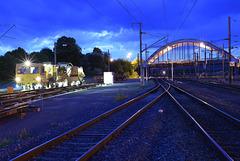 Draisine de Nuit en gare de Reding