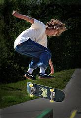 Les bouclettes d'un skater