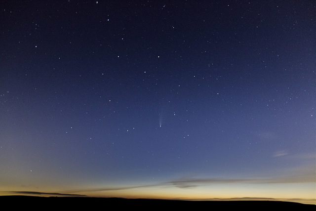 Comet Neowise from near Burbage Bridge