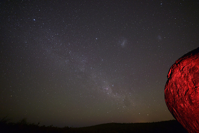 Milky Way starting to rise