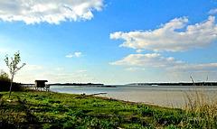 La Garonne, près de l'estuaire de la Gironde...