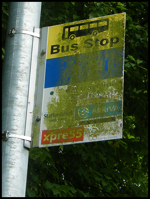 distressed bus stop