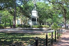 Sergeant William Jasper Memorial...info on plaque one shot over,  Savannah, Georgia ~~ USA