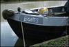 boring grey narrowboat sign