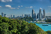 Keppel Bay seen from Siloso Skywalk on Sentosa island in Singapore