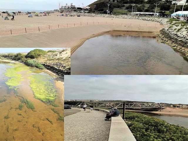 Areia Branca Beach, seawater channel