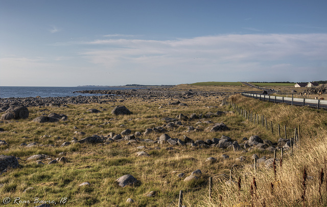 Nordsjøvegen road meets the ocean at Hårr.