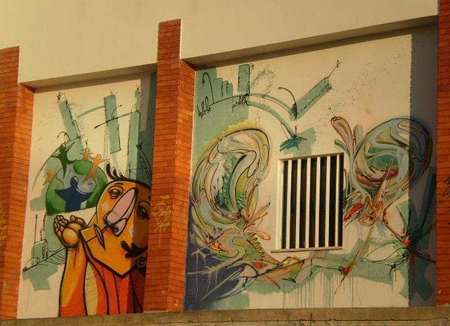 Wall paintings.