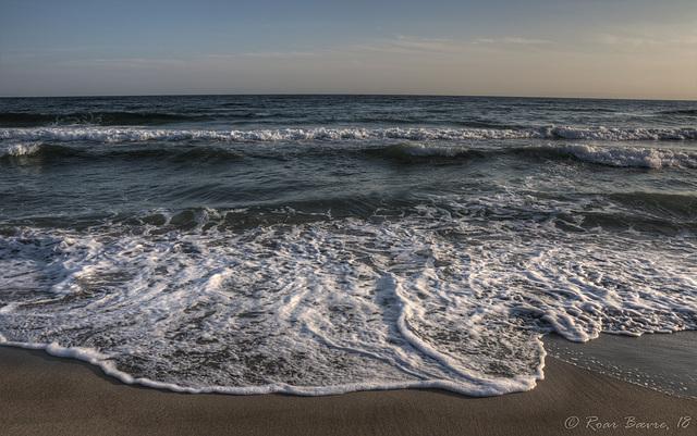 Waves at Brusand beach