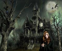 Chateau hanté...Ombres : mon poème...