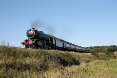 WD 2-10-0 90775 between Sheringham and Weybourne with 2M42 16:40 Sheringham - Holt North Norfolk Railway 2nd September 2017.